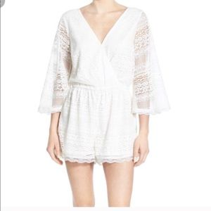 Band of Gypsies Lace Romper Large